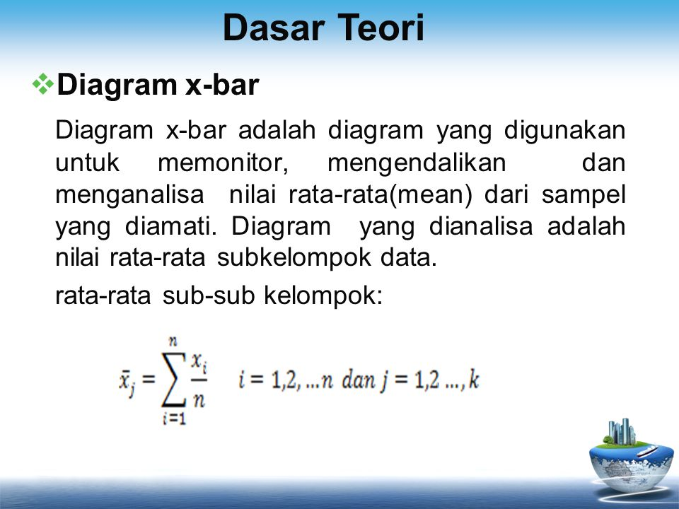 Dasar Teori Diagram x-bar
