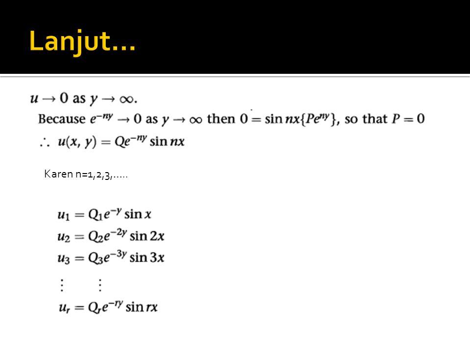 Lanjut… Karen n=1,2,3,…..