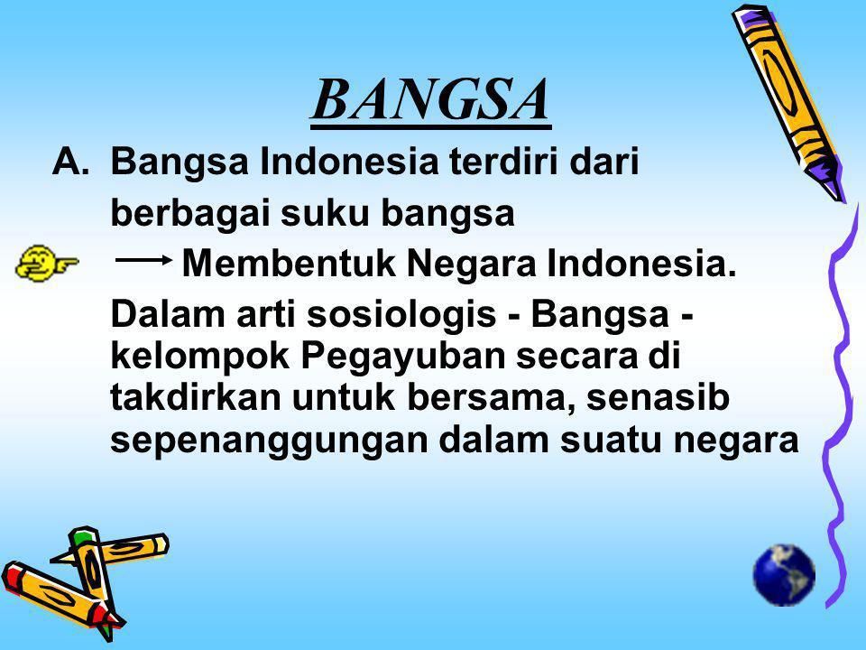 BANGSA Bangsa Indonesia terdiri dari berbagai suku bangsa