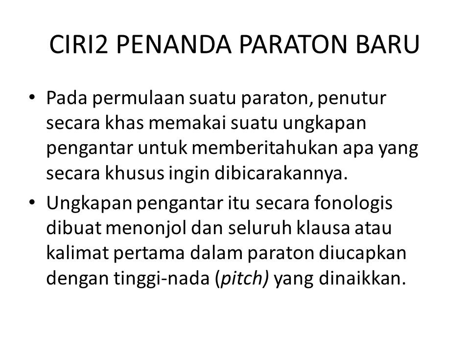 CIRI2 PENANDA PARATON BARU