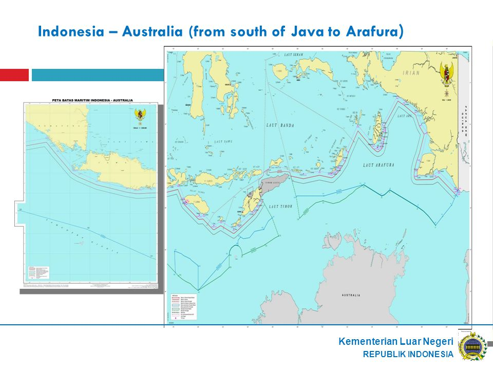 Indonesia – Australia (from south of Java to Arafura)