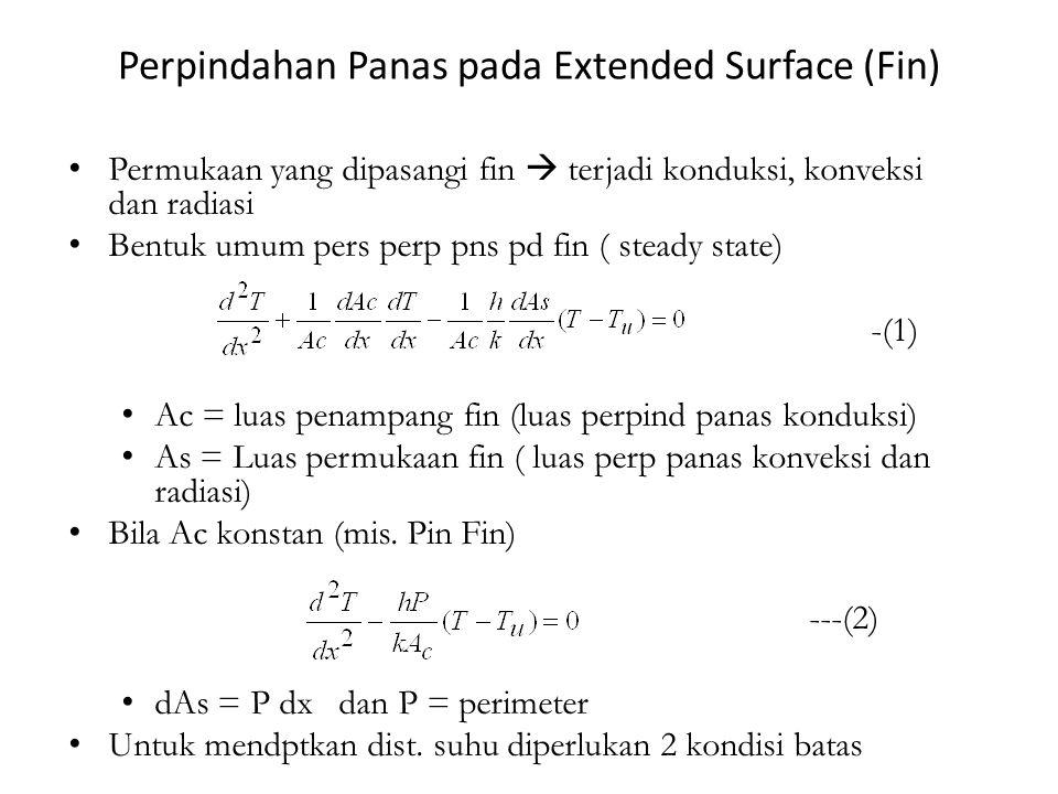 Perpindahan Panas pada Extended Surface (Fin)