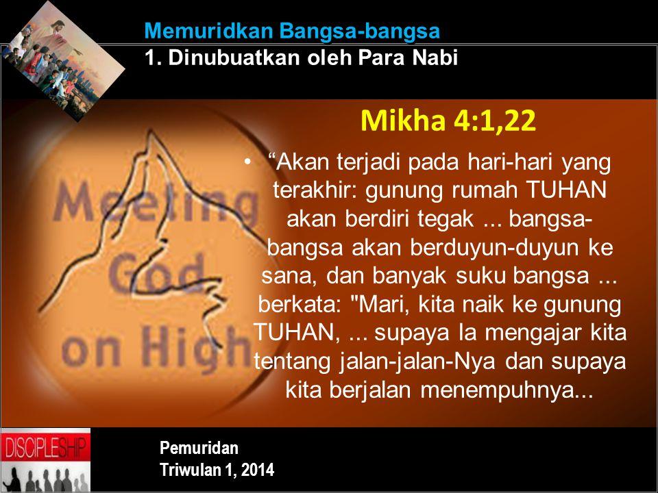 Memuridkan Bangsa-bangsa 1. Dinubuatkan oleh Para Nabi