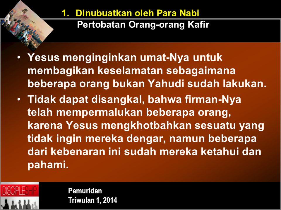 Dinubuatkan oleh Para Nabi