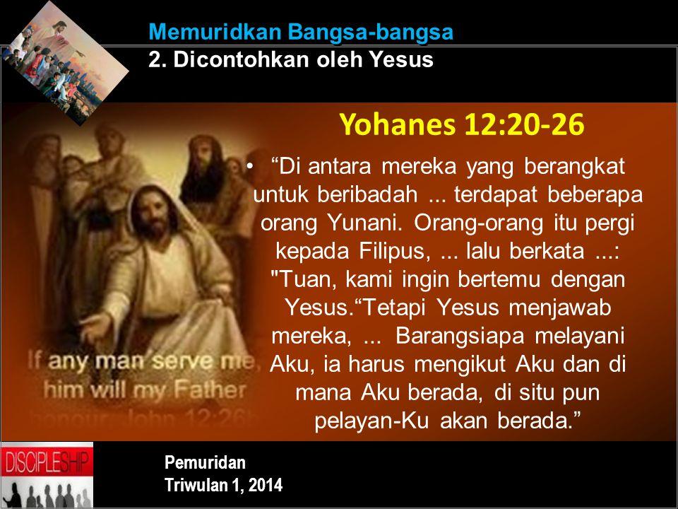 Memuridkan Bangsa-bangsa 2. Dicontohkan oleh Yesus