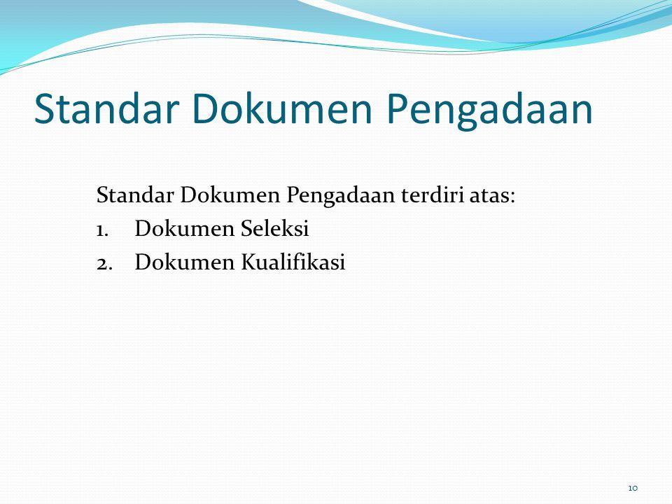 Standar Dokumen Pengadaan