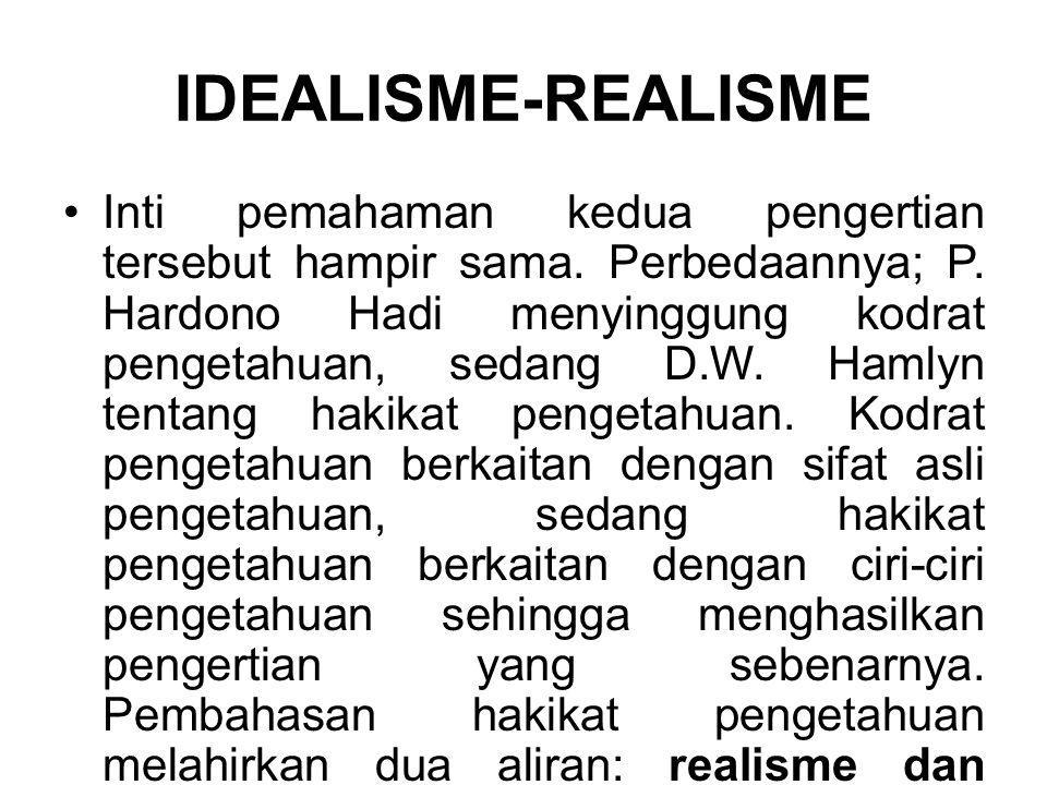 IDEALISME-REALISME