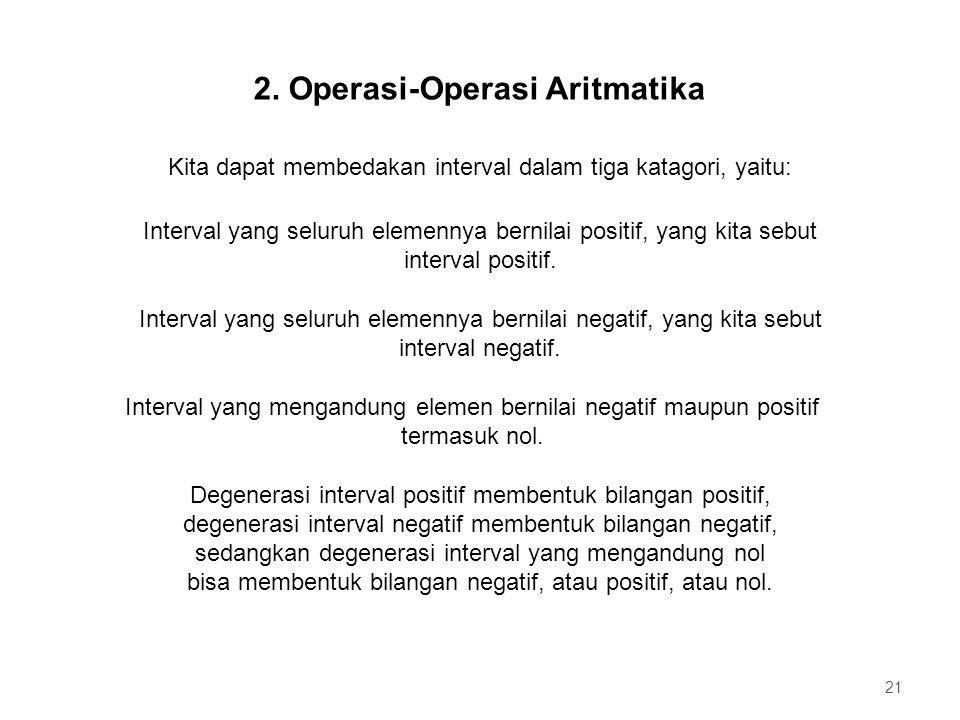 2. Operasi-Operasi Aritmatika