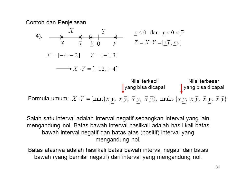 X Y Contoh dan Penjelasan 4). ( ) x Formula umum: