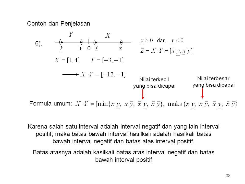 Y X Contoh dan Penjelasan 6). ( ) Formula umum: