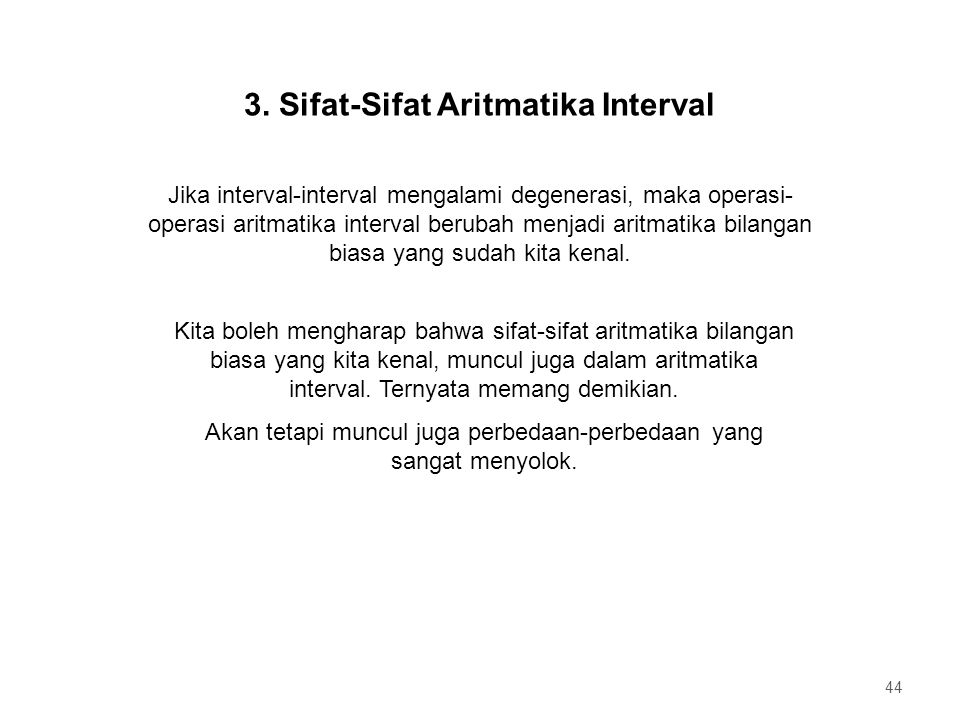 3. Sifat-Sifat Aritmatika Interval