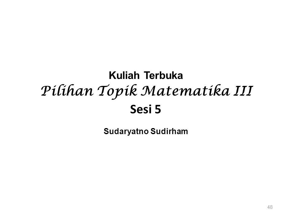 Pilihan Topik Matematika III