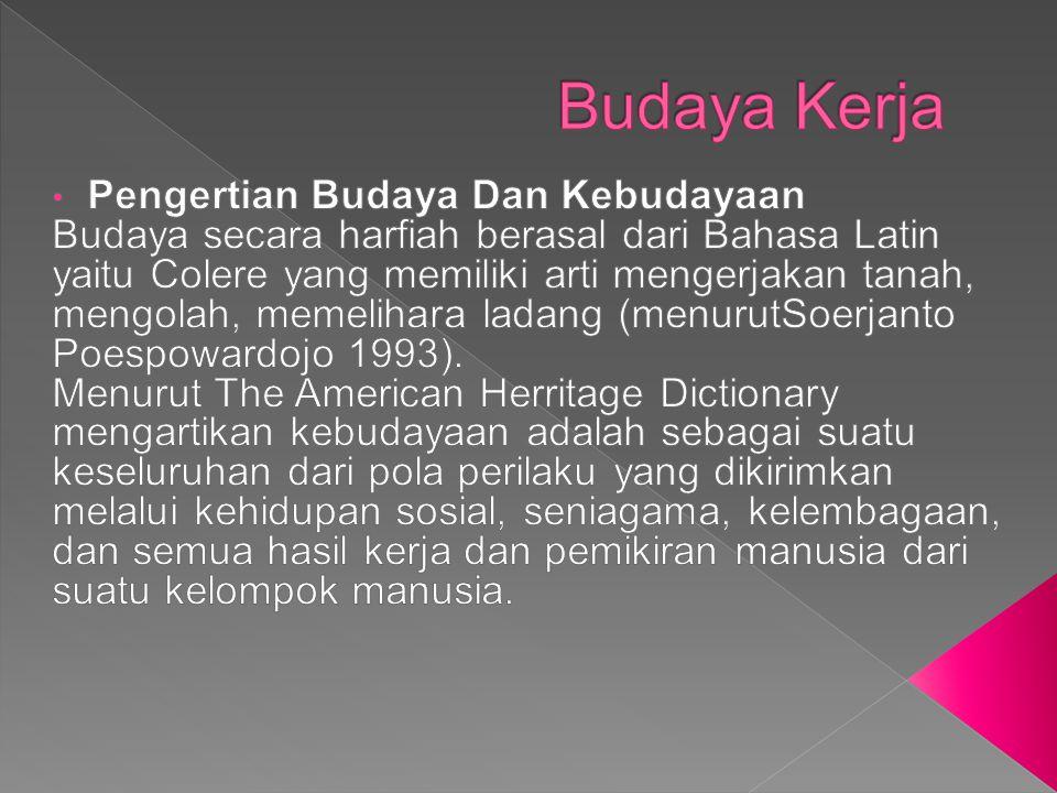 Budaya Kerja Pengertian Budaya Dan Kebudayaan