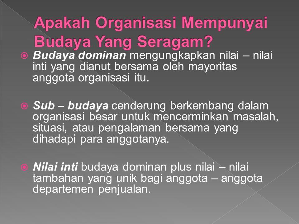 Apakah Organisasi Mempunyai Budaya Yang Seragam