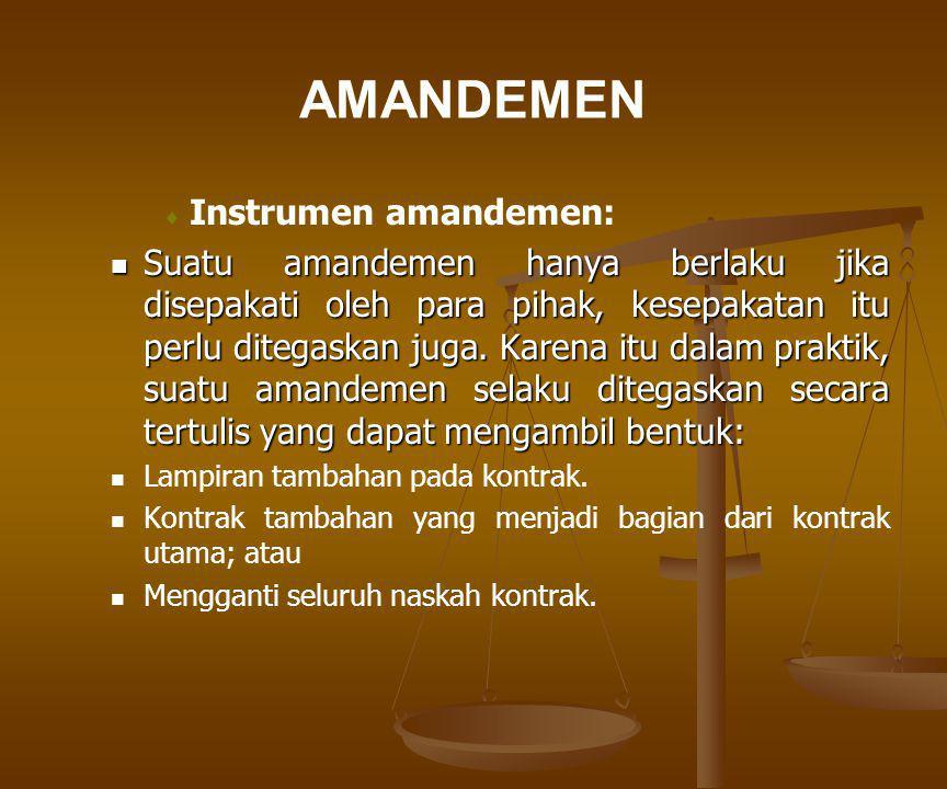 AMANDEMEN Instrumen amandemen: