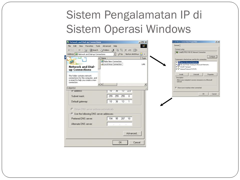 Sistem Pengalamatan IP di Sistem Operasi Windows
