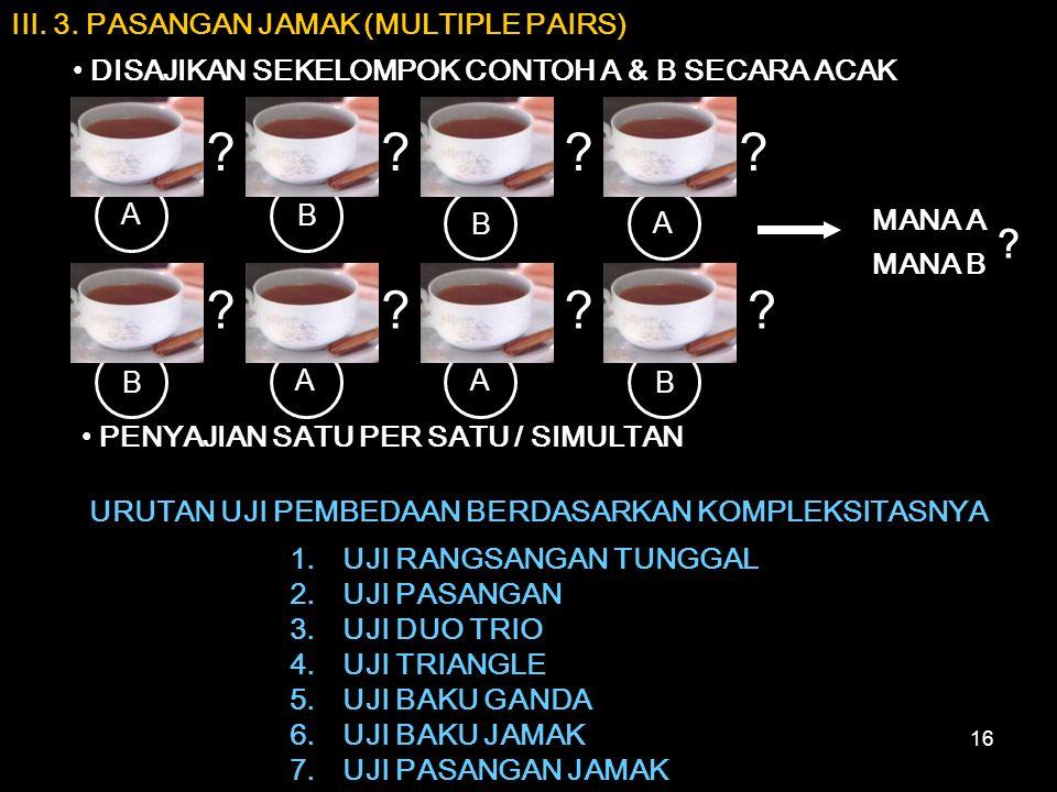 III. 3. PASANGAN JAMAK (MULTIPLE PAIRS)