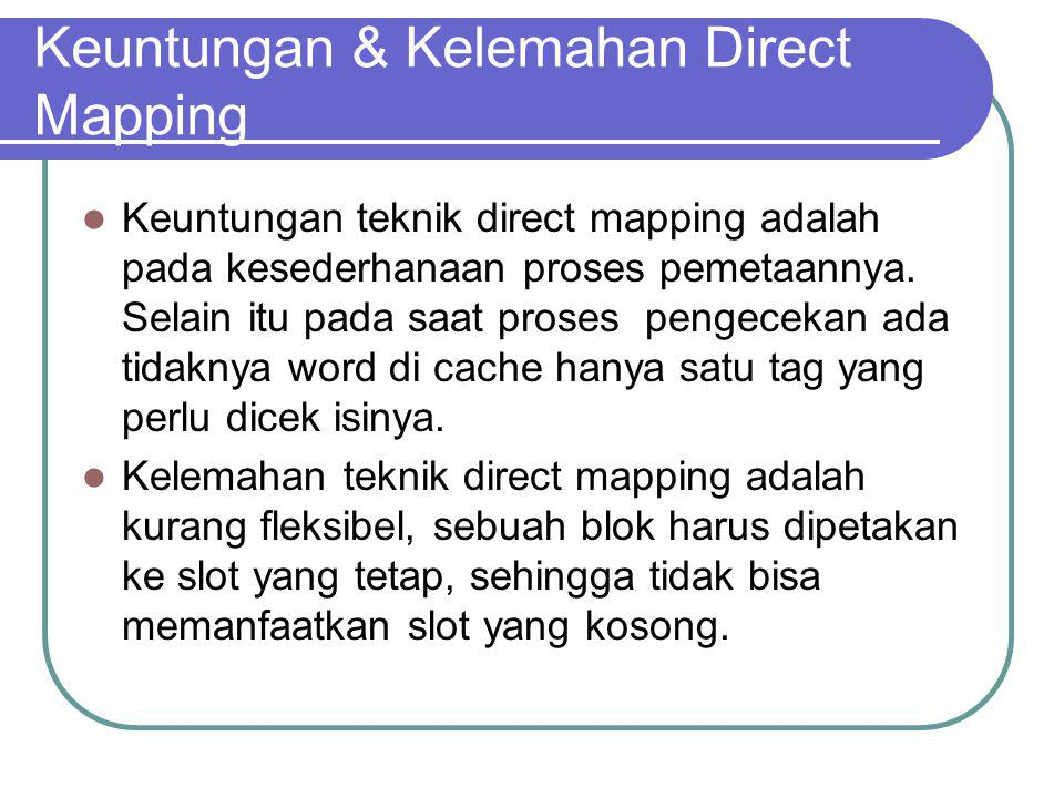 Keuntungan & Kelemahan Direct Mapping