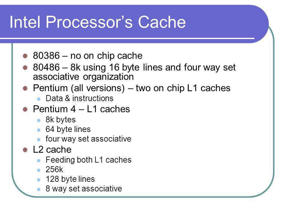 Intel Processor's Cache