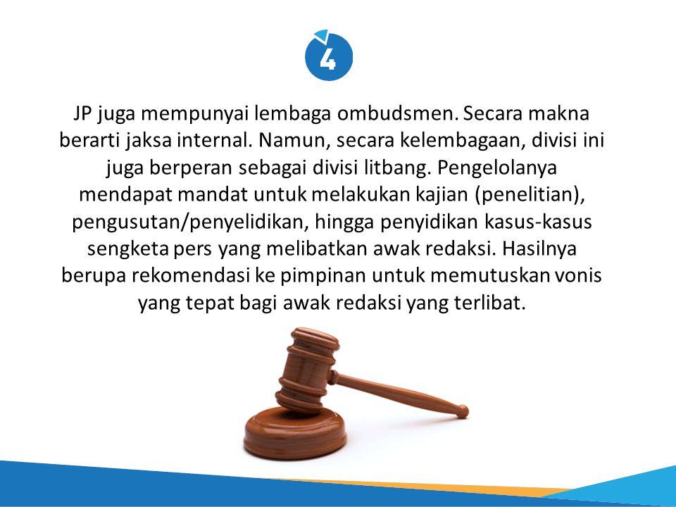 JP juga mempunyai lembaga ombudsmen