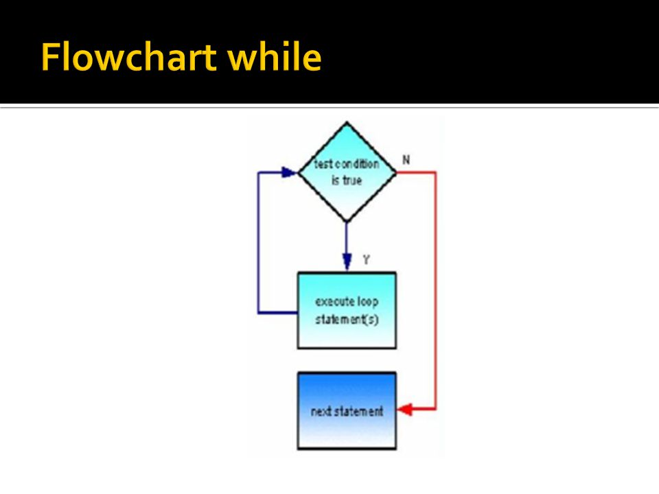 Flowchart while
