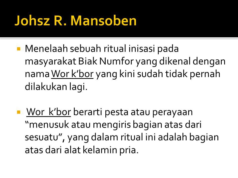 Johsz R. Mansoben