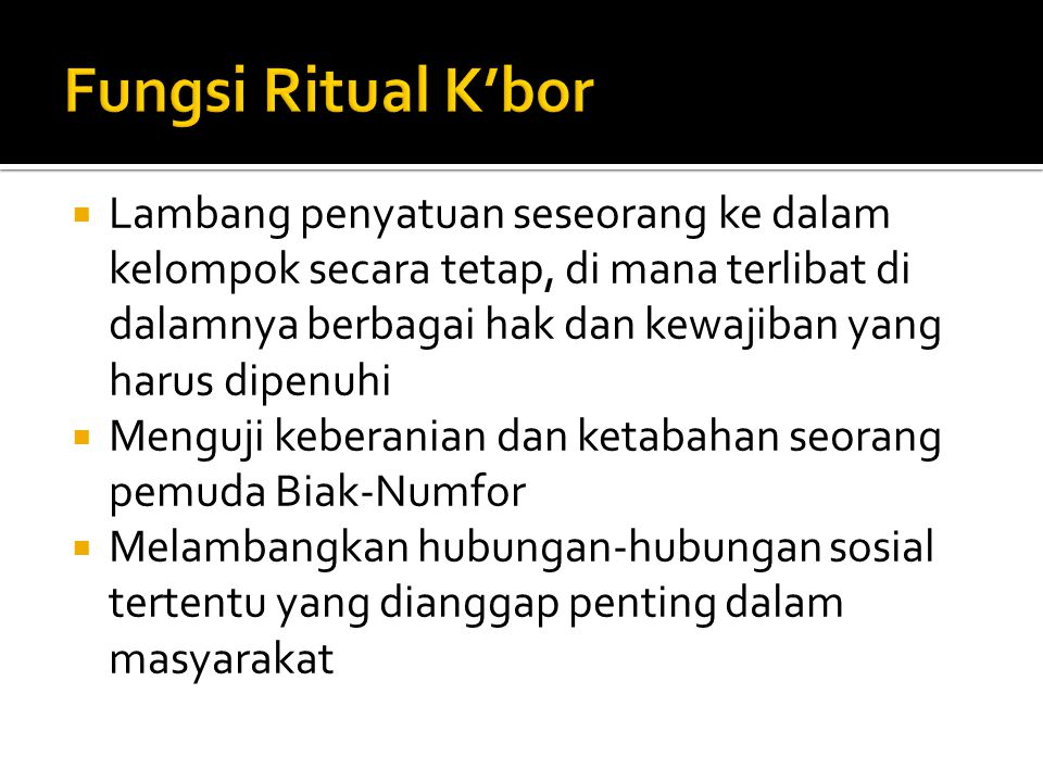 Fungsi Ritual K'bor