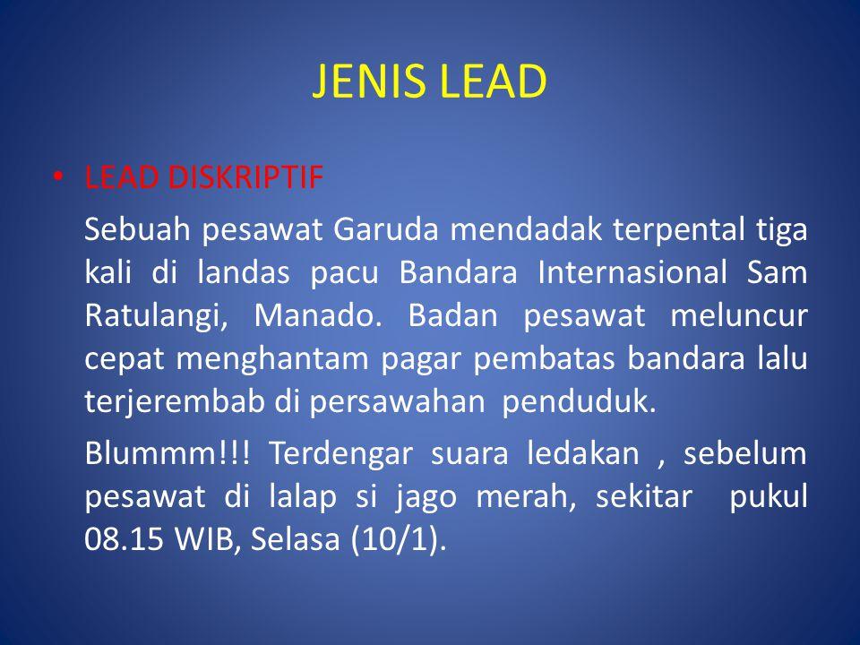 JENIS LEAD LEAD DISKRIPTIF