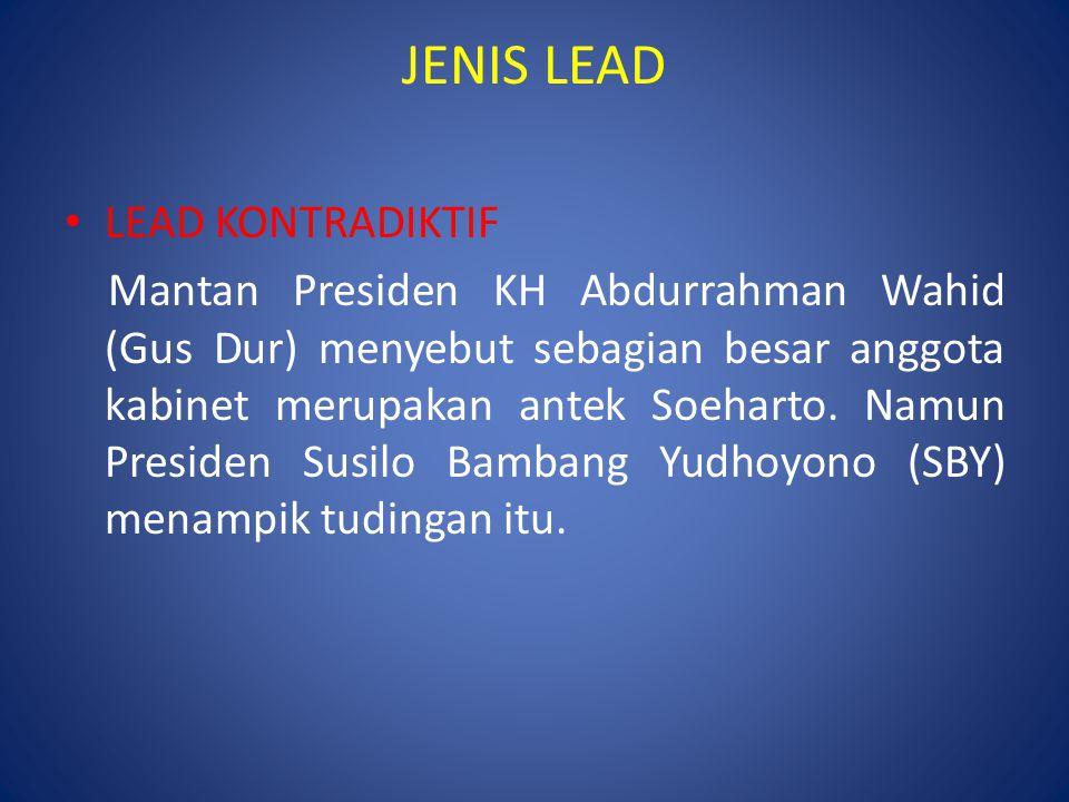 JENIS LEAD LEAD KONTRADIKTIF