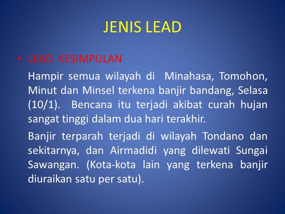 JENIS LEAD LEAD KESIMPULAN