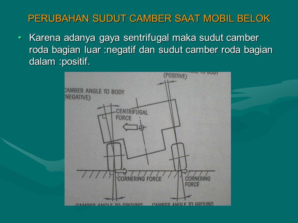 PERUBAHAN SUDUT CAMBER SAAT MOBIL BELOK