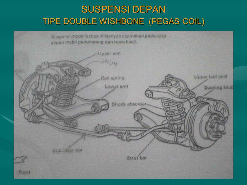 SUSPENSI DEPAN TIPE DOUBLE WISHBONE (PEGAS COIL)