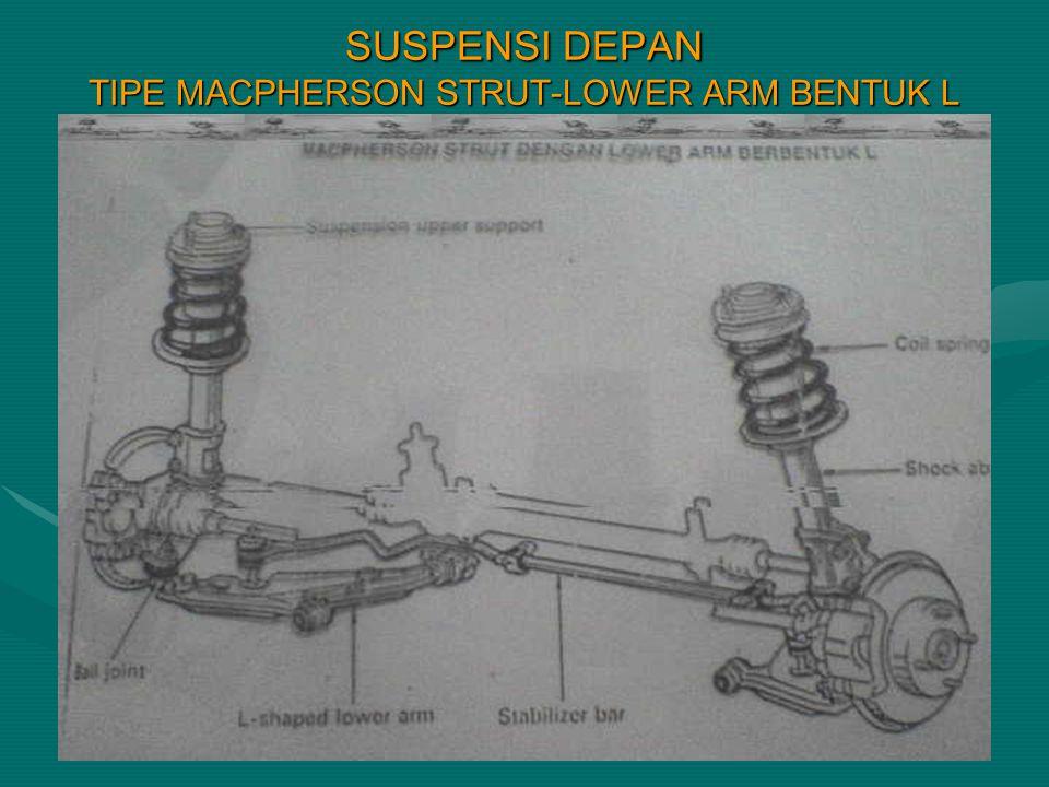 SUSPENSI DEPAN TIPE MACPHERSON STRUT-LOWER ARM BENTUK L