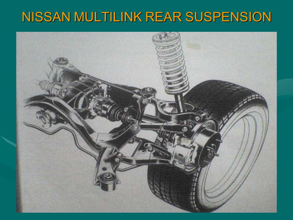 NISSAN MULTILINK REAR SUSPENSION