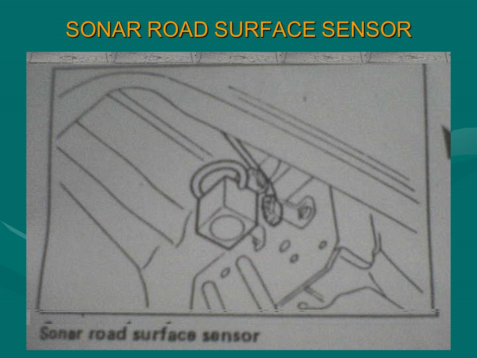 SONAR ROAD SURFACE SENSOR