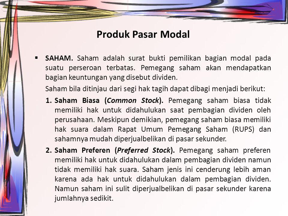 Produk Pasar Modal