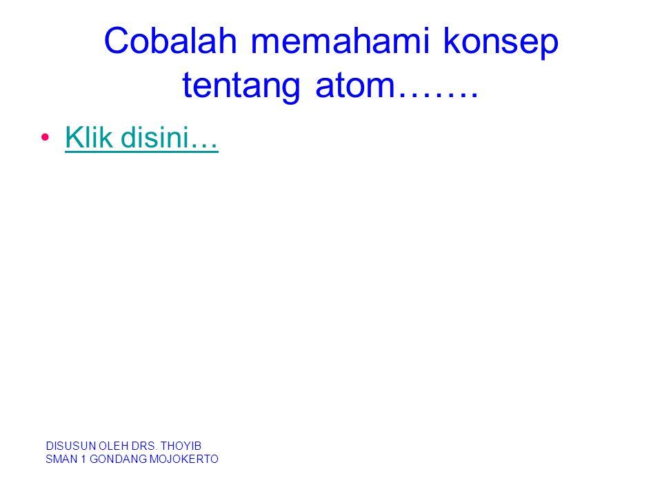 Cobalah memahami konsep tentang atom…….