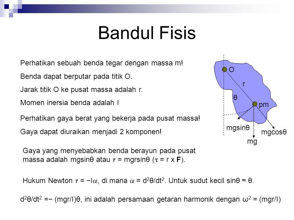 Bandul Fisis Perhatikan sebuah benda tegar dengan massa m!