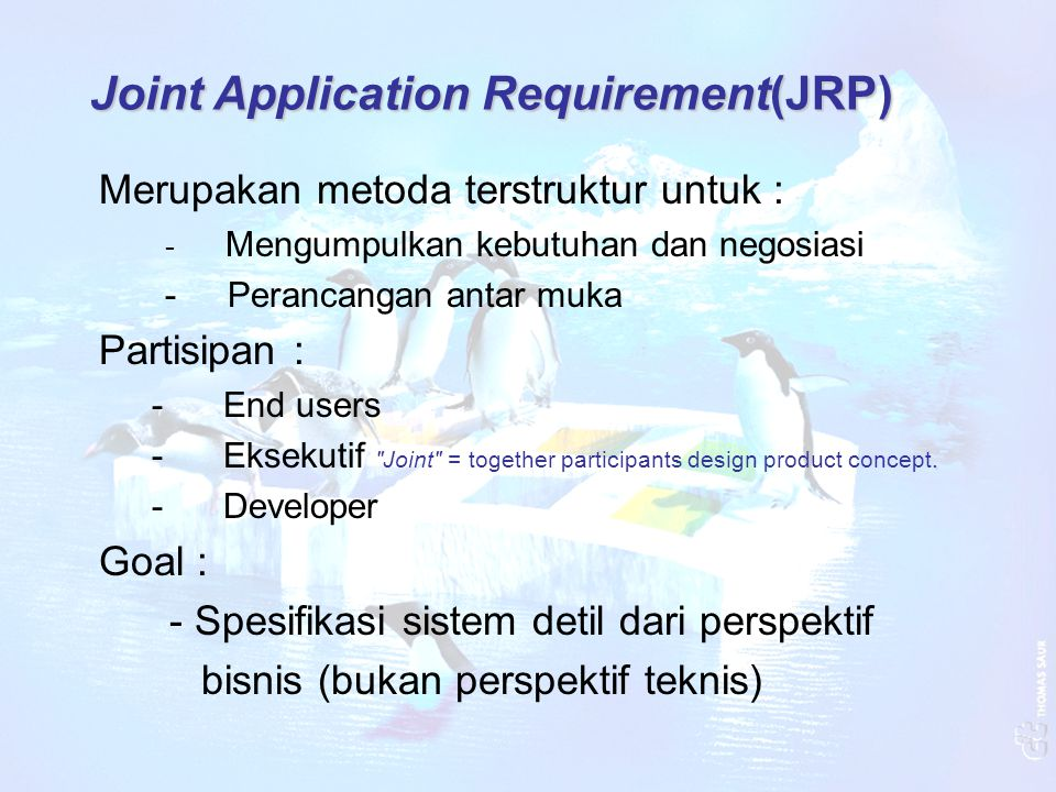 Joint Application Requirement(JRP)