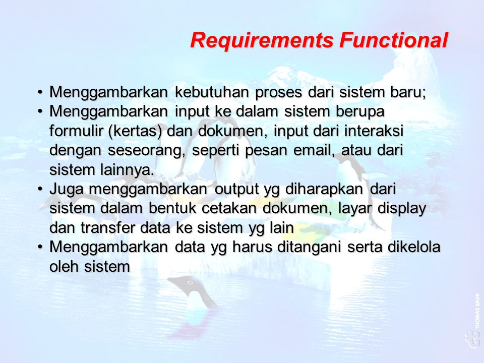 Requirements Functional