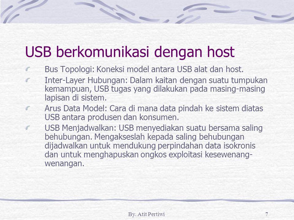 USB berkomunikasi dengan host