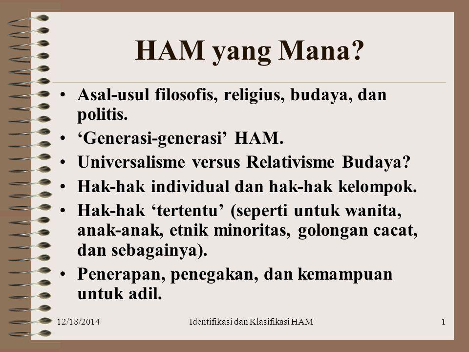 Identifikasi dan Klasifikasi HAM