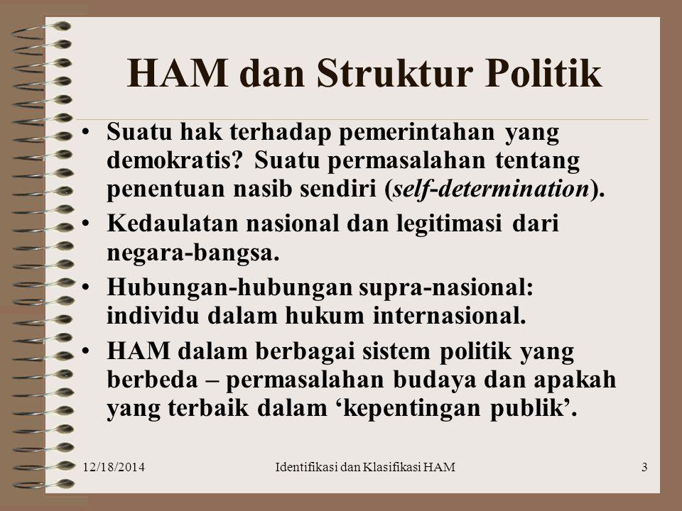 HAM dan Struktur Politik