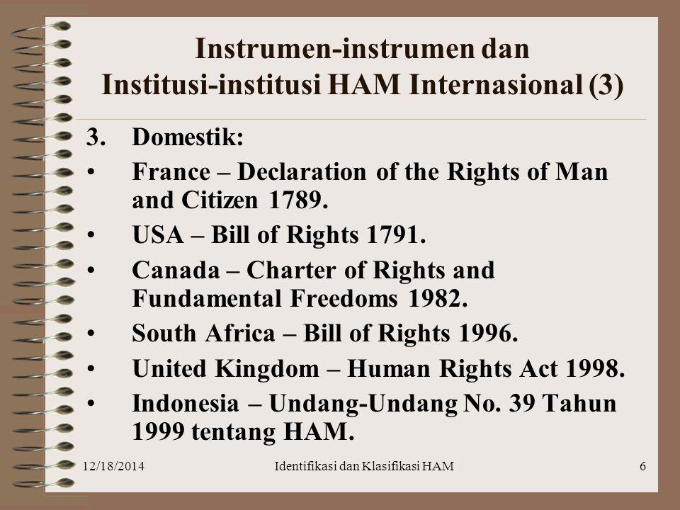 Instrumen-instrumen dan Institusi-institusi HAM Internasional (3)