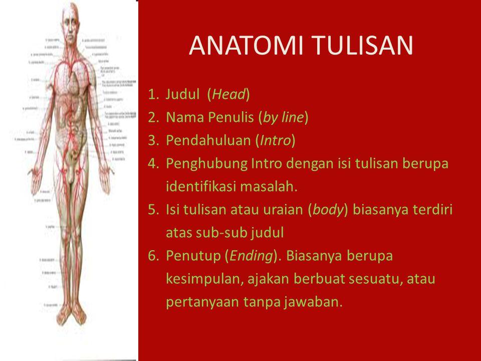 ANATOMI TULISAN Judul (Head) Nama Penulis (by line)
