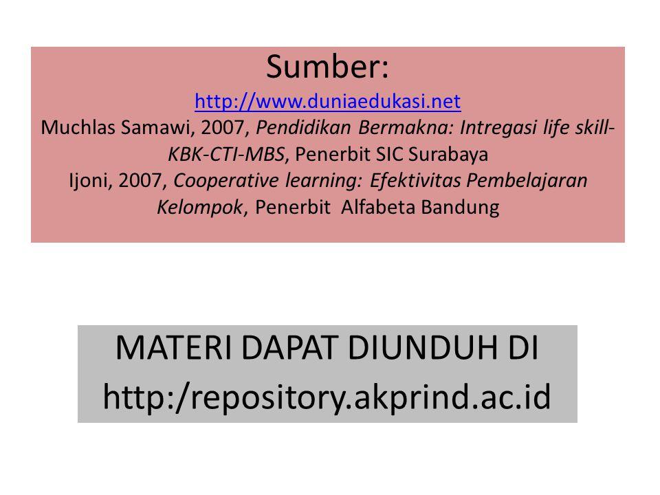 MATERI DAPAT DIUNDUH DI http:/repository.akprind.ac.id