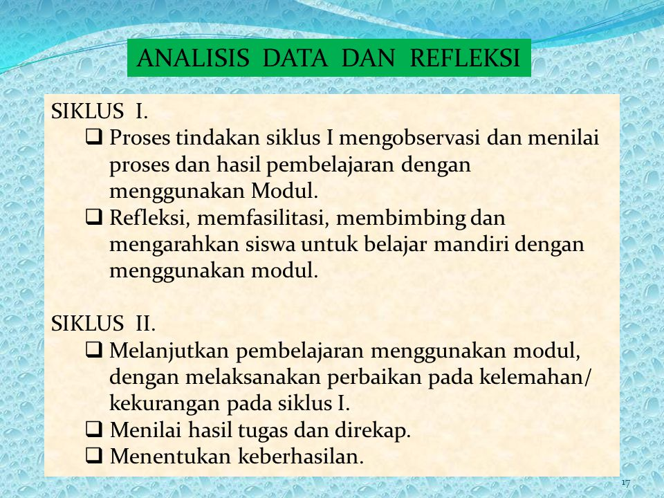 ANALISIS DATA DAN REFLEKSI