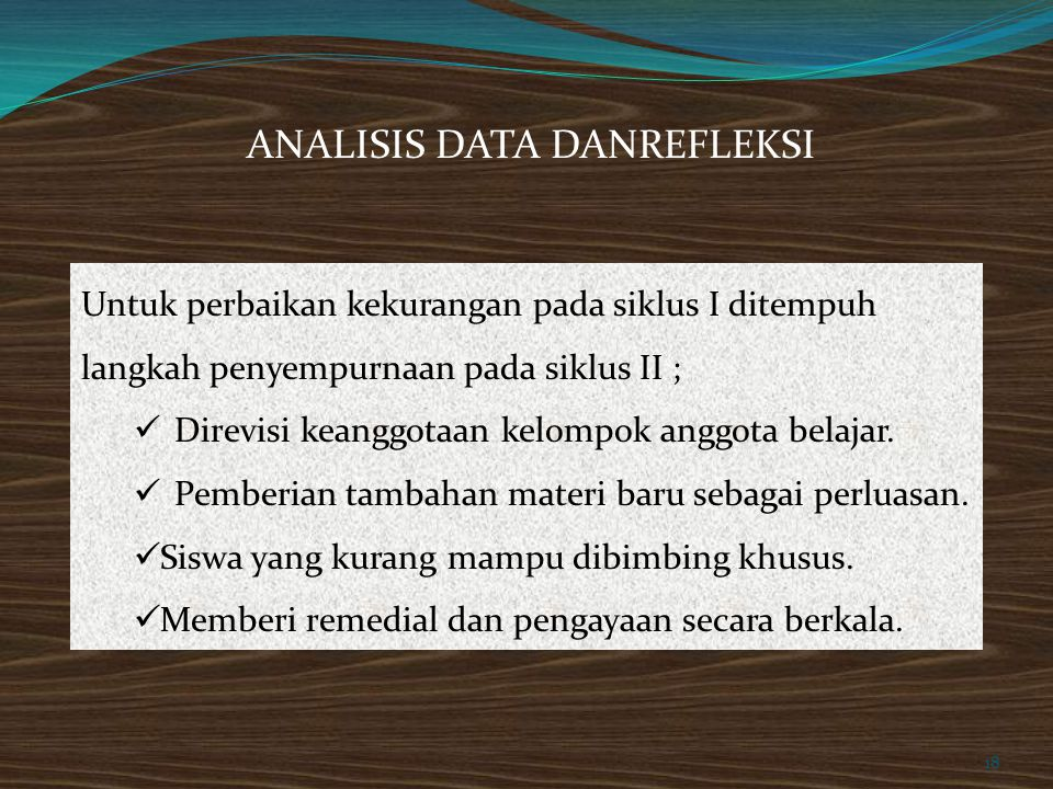 ANALISIS DATA DANREFLEKSI