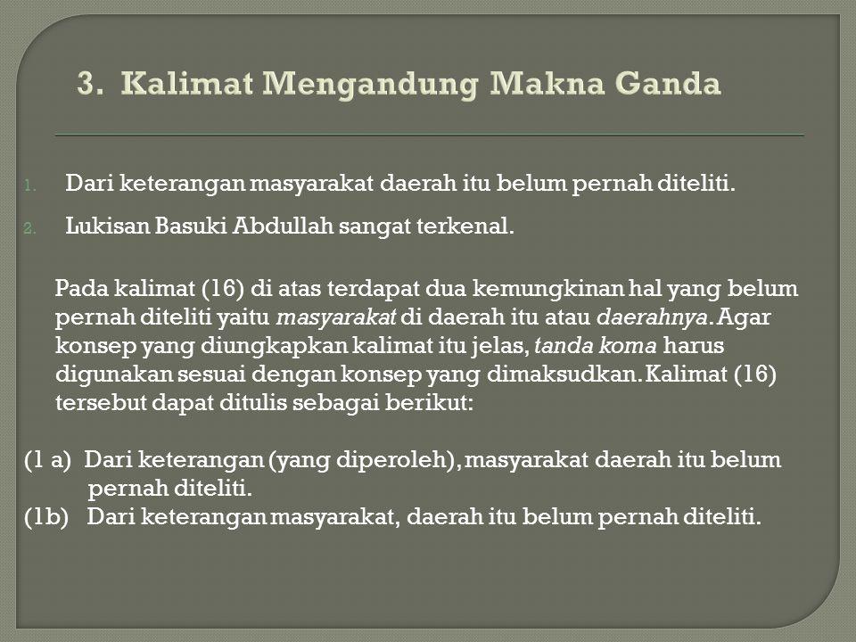 3. Kalimat Mengandung Makna Ganda