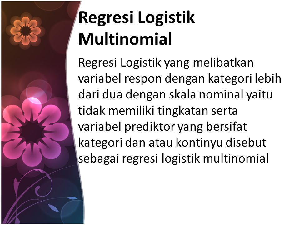 Regresi Logistik Multinomial
